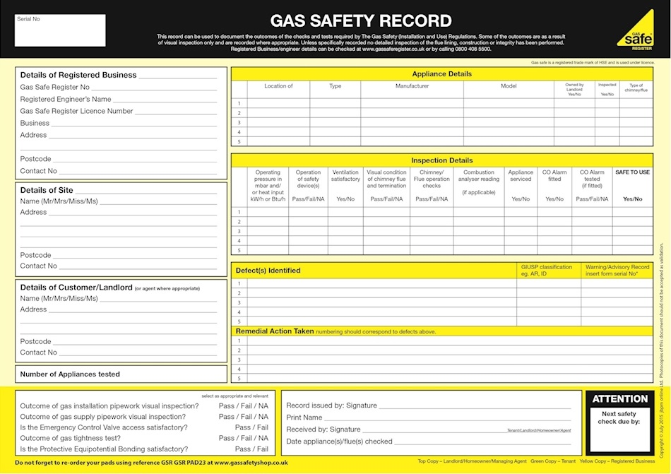 Gas Safety Certificates For Landlords by FixLink Boilers